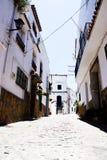 西班牙人典型的村庄 免版税图库摄影