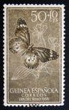 西班牙人几内亚邮票 免版税库存图片