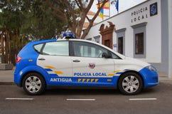 西班牙人当地警察汽车,位子阿尔特阿, 库存图片
