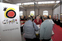 西班牙人旅行庆祝5年周年纪念 库存照片