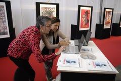 西班牙人旅行庆祝5年周年纪念 免版税图库摄影