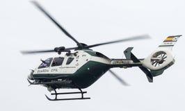 西班牙人瓜迪亚民用直升机 免版税库存图片