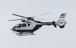西班牙人瓜迪亚民用直升机 库存照片