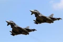 西班牙人空军队台风战斗机战斗机 免版税库存照片