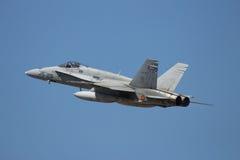 西班牙人空军队F-18大黄蜂喷气机 免版税图库摄影