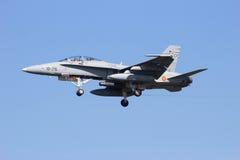 西班牙人空军队F-18大黄蜂 图库摄影