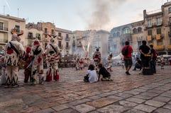 西班牙传统庆祝 库存照片