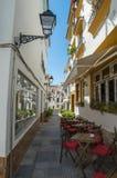 西班牙传统街道 库存照片