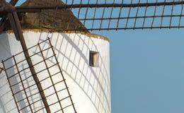 西班牙传统风车 库存图片