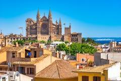 西班牙伯尔马de Majorca大教堂La Seu 免版税库存图片