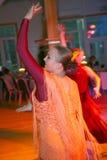 西班牙佛拉明柯舞曲舞蹈的跳舞的小组 库存照片
