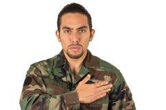 西班牙军人佩带的制服 免版税库存图片