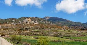 西班牙北部城堡loarre西班牙 免版税库存图片