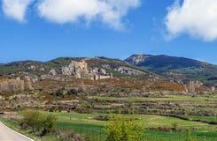 西班牙北部城堡loarre西班牙 免版税库存照片