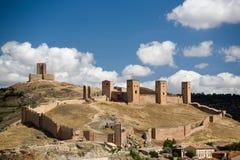 西班牙北部castillo de molina 免版税库存照片