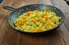 西班牙南瓜肉菜饭, 免版税库存照片