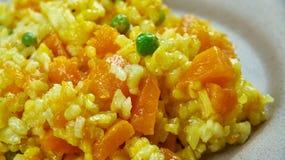 西班牙南瓜肉菜饭 库存图片