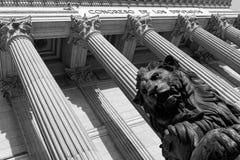 西班牙国会,马德里 免版税库存照片