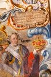 西班牙国王冠耶稣Atotonilco墨西哥壁画圣所  免版税图库摄影