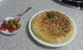 西班牙土豆煎蛋卷 免版税库存图片