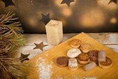 西班牙圣诞节甜点静物画 库存图片