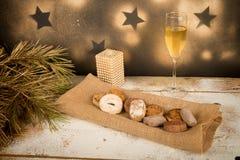 西班牙圣诞节甜点 免版税库存照片