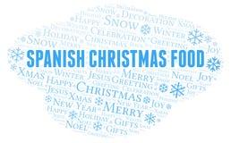 西班牙圣诞节食物词云彩 向量例证