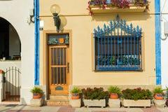 西班牙城内住宅 图库摄影