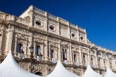 西班牙城市塞维利亚的城镇厅看法  库存图片