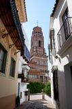 西班牙城镇。 Poble Espanyol。 卡塔龙尼亚。 免版税库存图片
