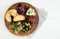 西班牙塔帕纤维布或意大利开胃小菜的分类 库存图片