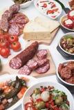 西班牙塔帕纤维布菜单 免版税库存图片