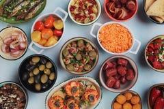 西班牙塔帕纤维布食物 免版税图库摄影