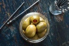 西班牙女王橄榄 免版税库存照片