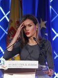 西班牙女王莱蒂齐亚016 免版税图库摄影