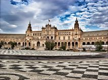 西班牙宫殿 免版税库存照片
