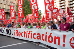 西班牙将军罢工 库存图片