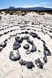 西班牙小山白色海滩螺旋 免版税库存图片