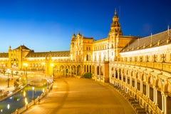 西班牙广场塞维利亚西班牙 免版税图库摄影