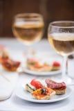西班牙或意大利快餐开胃小菜 库存图片