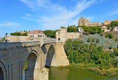 西班牙托莱多桥梁(1) 免版税图库摄影