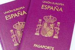 西班牙护照 库存照片