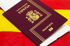 西班牙护照 库存图片