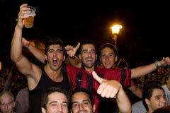 西班牙支持者 图库摄影