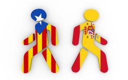 从西班牙政治进程的卡塔龙尼亚出口 免版税图库摄影