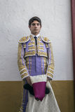 西班牙斗牛士塞巴斯蒂安Castella完全聚焦了momen 库存照片