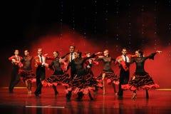 西班牙斗牛舞蹈这奥地利的世界舞蹈 免版税库存照片