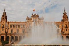 西班牙方形水 免版税库存图片