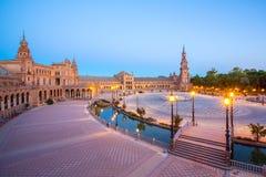 西班牙方形的西班牙广场塞维利亚 免版税图库摄影