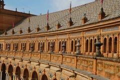 西班牙方形顶层 免版税库存照片